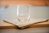 Happy Burping - etched glasses